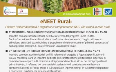 (English) eNEET RURAL PROJECT: the appointments with the young people of the area begin. SAVE THE DATE !!!