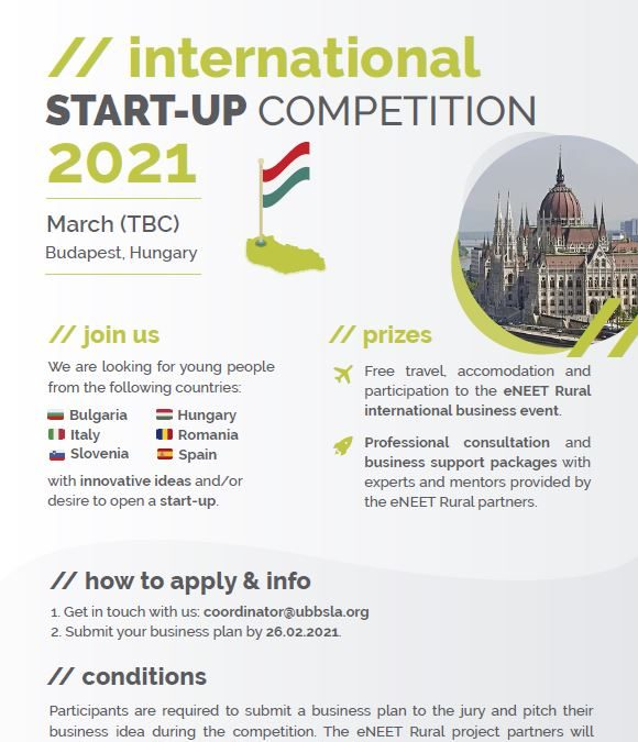 (English) International start-up competition 2021 in Budapest